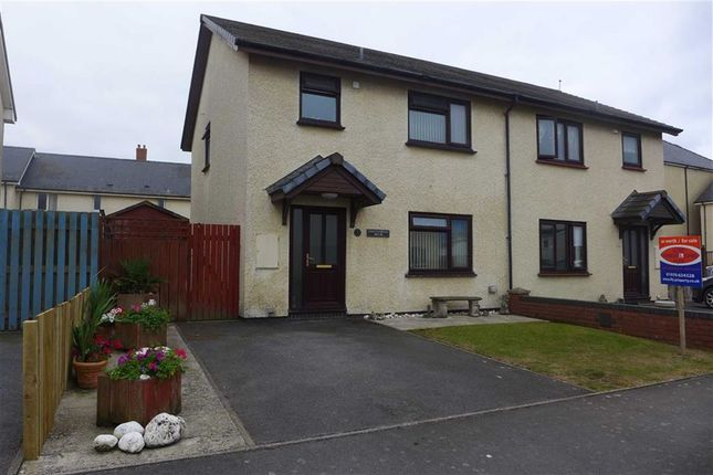 Thumbnail Semi-detached house for sale in Clos Pantyfedwen, Borth, Ceredigion