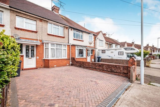 Thumbnail Terraced house to rent in Congreve Road, Broadwater, Worthing