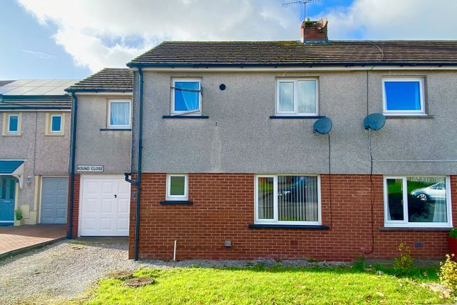Thumbnail Semi-detached house for sale in Round Close, Moresby Parks, Whitehaven