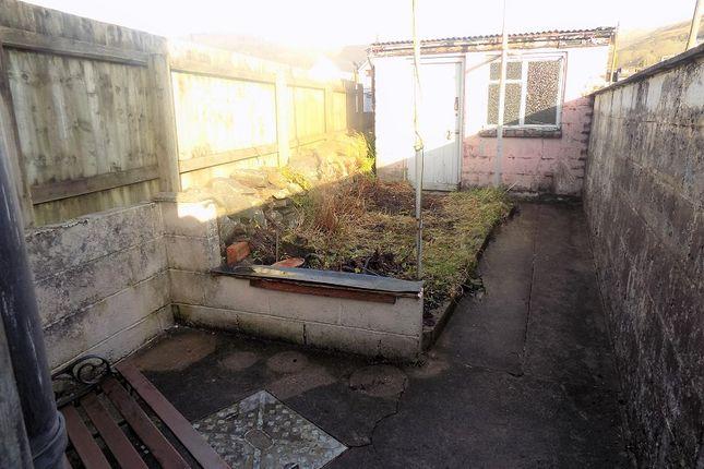 Rear Garden of River Terrace, Treorchy, Rhondda Cynon Taff. CF42