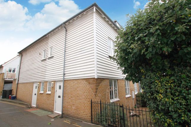 Thumbnail End terrace house for sale in The Slipway, Sea Wall, Whitstable