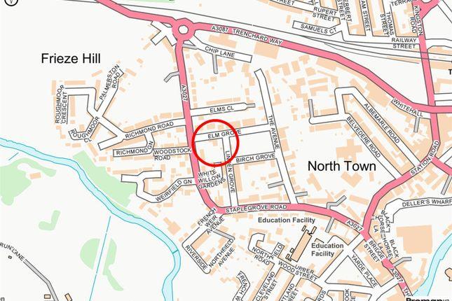 Location of Elm Grove, Taunton TA1