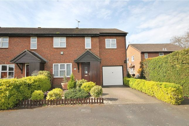 Thumbnail End terrace house for sale in Hawkswell Close, Goldsworth Park, Woking, Surrey
