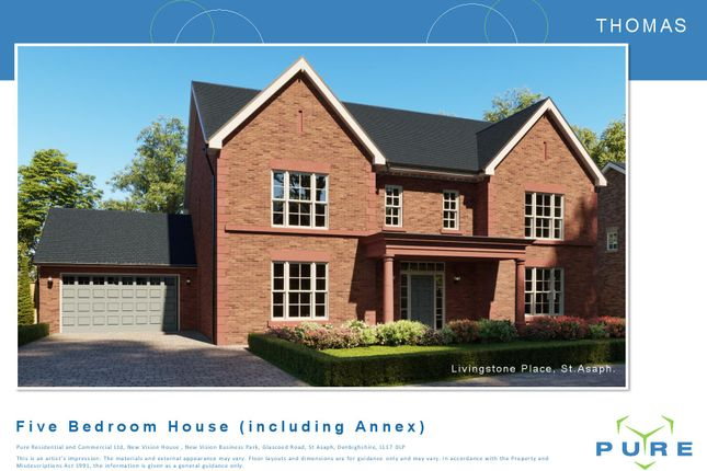 Thumbnail Detached house for sale in Livingstone Place, St. Asaph, Denbighshire