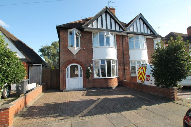 Thumbnail Semi-detached house for sale in Overdale Road, Knighton, Leicester