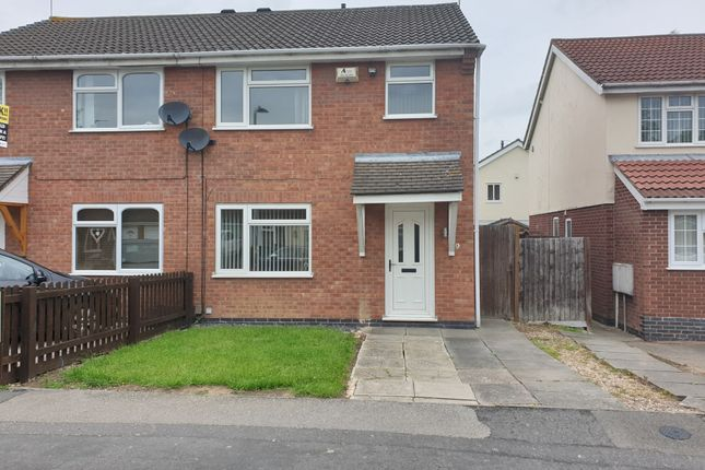 Thumbnail 3 bed semi-detached house to rent in Hunters Way, Leicester Forest East