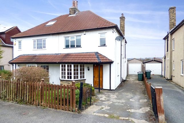 Thumbnail Semi-detached house to rent in Nab Wood Grove, Shipley, West Yorkshire