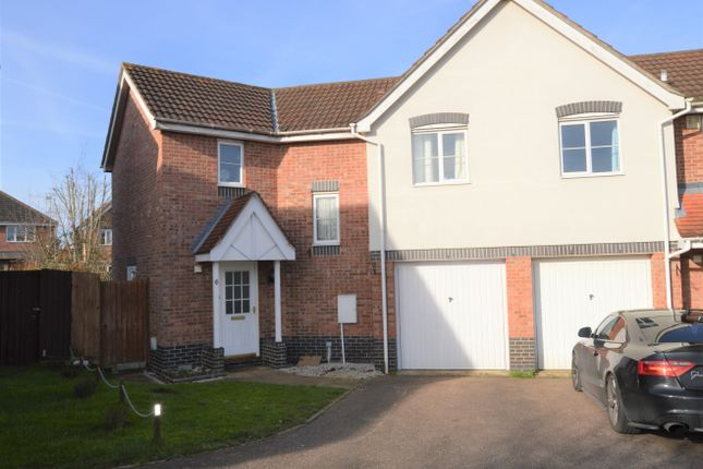Thumbnail Semi-detached house for sale in Burnt House Close, Haverhill