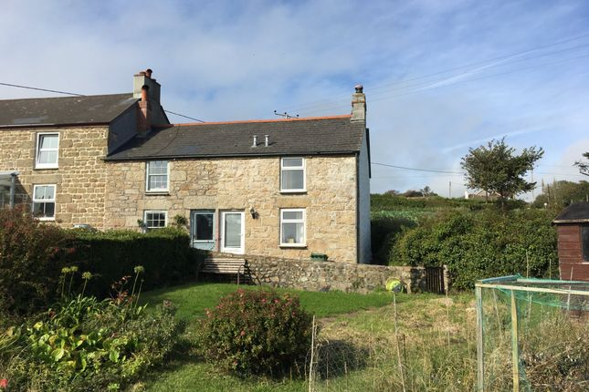 Thumbnail End terrace house for sale in Higher Eglos Cottages, Ludgvan, Penzance