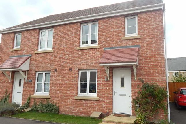 Thumbnail Semi-detached house to rent in Belland Hill, Eynesbury, St. Neots
