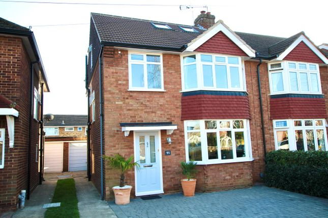 Thumbnail Semi-detached house for sale in Gaston Way, Shepperton