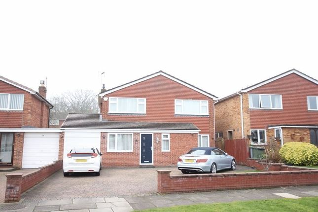 Thumbnail Detached house for sale in Lawns Avenue, Raby Mere, Wirral