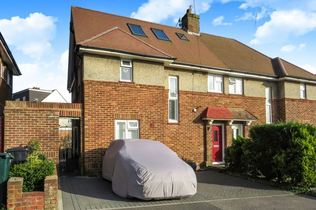 Thumbnail Semi-detached house for sale in Bramber Avenue, Hove