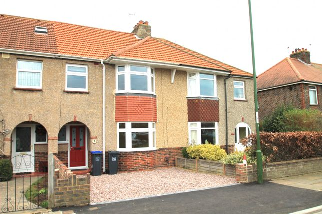 Thumbnail Terraced house to rent in Orchard Way, Lancing