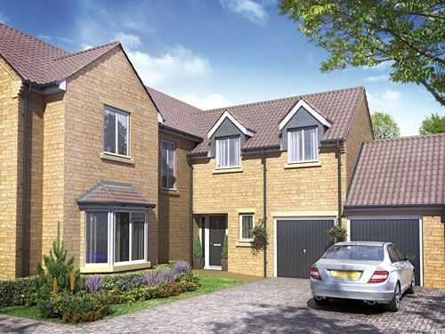 "Thumbnail Detached house for sale in ""The Berkeley"" at Barleythorpe Road, Oakham"