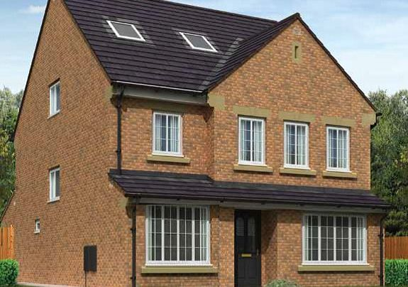 Thumbnail Detached house for sale in The Whiteside Plot 45, West Avenue, Parkview, Barrow-In-Furness