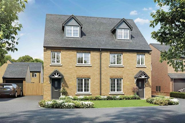 "Thumbnail Semi-detached house for sale in ""The Elliston - Plot 69"" at West End Lane, New Rossington, Doncaster"