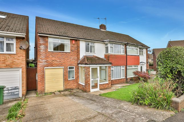 Thumbnail Semi-detached house for sale in Gwynant Crescent, Lakeside, Cardiff