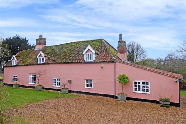Thumbnail Farmhouse for sale in Links Farm House, Beccles Road, Thurlton, Norwich