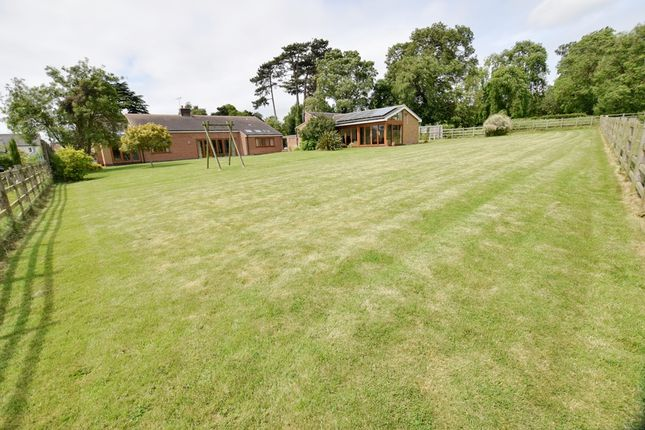 Thumbnail Detached bungalow for sale in Church Lane, Gaddesby, Leicester, Leicestershire