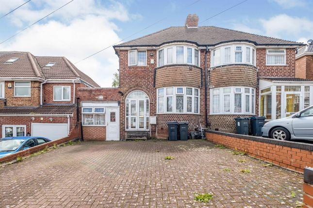Semi-detached house for sale in Hamstead Hall Avenue, Birmingham