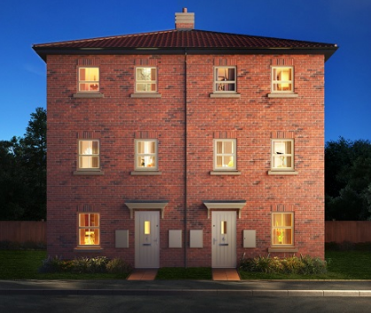 Thumbnail Town house for sale in The Livorno, Asket Drive, Leeds