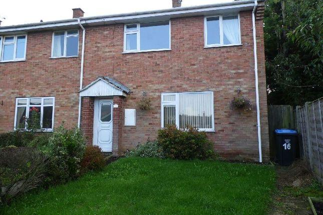 Thumbnail End terrace house to rent in Burdett Close, Gilmorton, Lutterworth