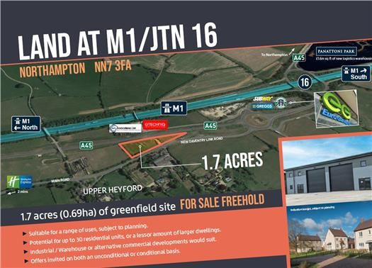 Thumbnail Light industrial for sale in Land At J16/M1, Main Road, Upper Heyford, Northamptonshire