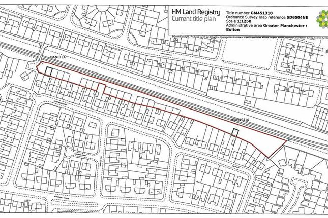 Title Plan of Land North Of Rayden Crescent, Westhoughton BL5