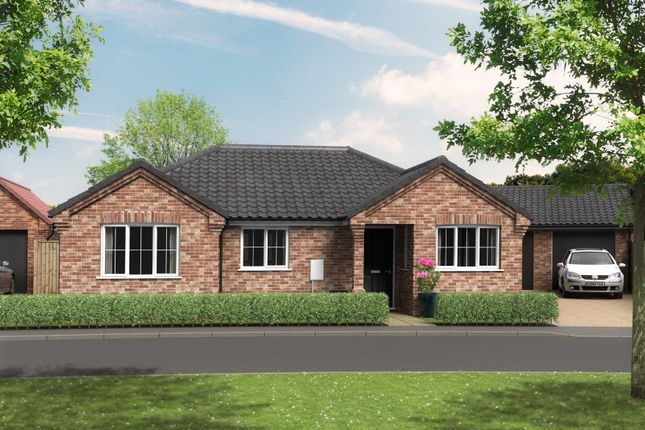 Thumbnail Detached bungalow for sale in Beccles Road, Thurlton, Norwich