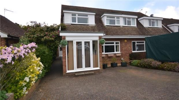 Thumbnail Semi-detached house for sale in Brooklands Close, Farnham, Surrey