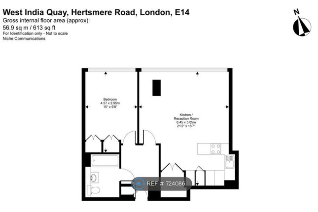 Floorplan of Hertsmere Road, London E14