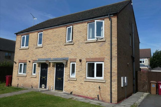 Thumbnail Semi-detached house for sale in Oakwell Close, Scunthorpe