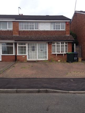 Thumbnail Semi-detached house to rent in Templemore Drive, Birmingham