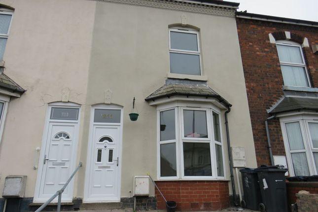 Thumbnail Terraced house to rent in Washwood Heath Road, Birmingham