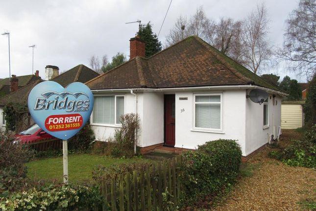 Thumbnail Bungalow to rent in Clockhouse Road, Farnborough