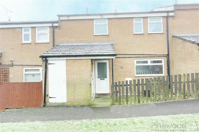 Thumbnail Terraced house to rent in Back Croft, Chesterfield, Derbyshire