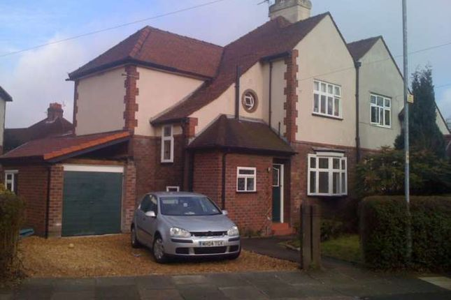 Thumbnail Semi-detached house to rent in Ruabon Road, East Didsbury, Didsbury, Manchester