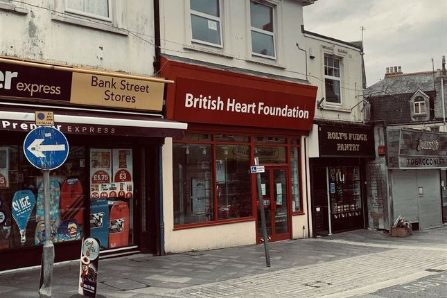 Thumbnail Commercial property for sale in Investment - British Heart Foundation, 58, Bank Street, Newquay