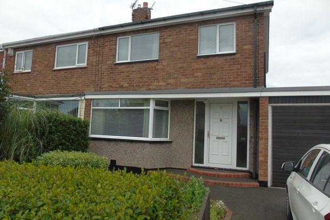 Thumbnail Semi-detached house to rent in Glendale Avenue, Choppington