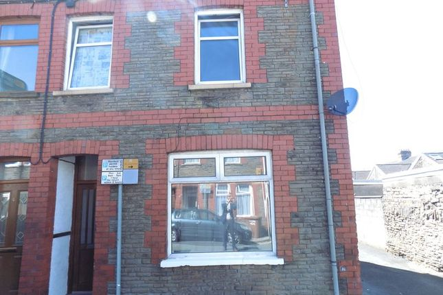 Thumbnail End terrace house to rent in Salop Street, Caerphilly
