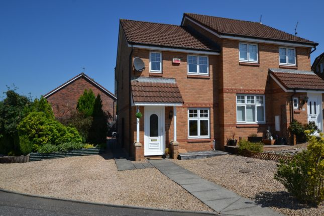Thumbnail Semi-detached house for sale in Gresham View, Motherwell, Lanarkshire