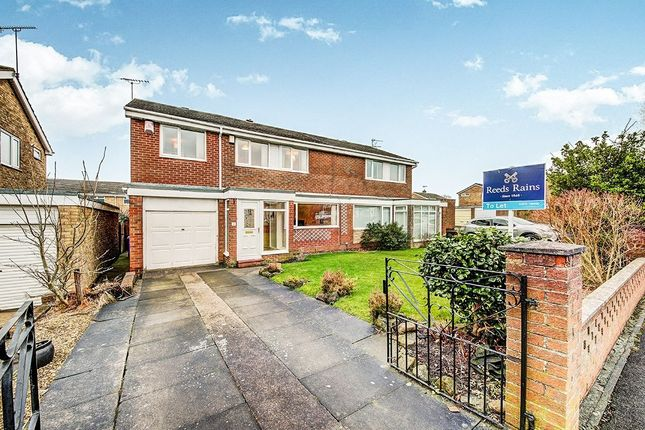 Thumbnail Semi-detached house to rent in Purbeck Gardens, Cramlington