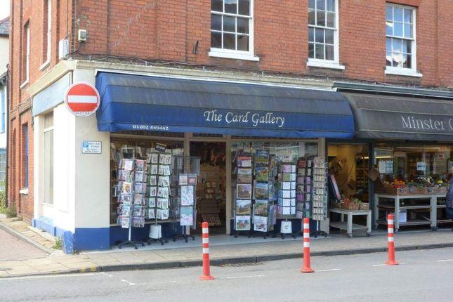 Retail premises for sale in Wimborne, Dorset