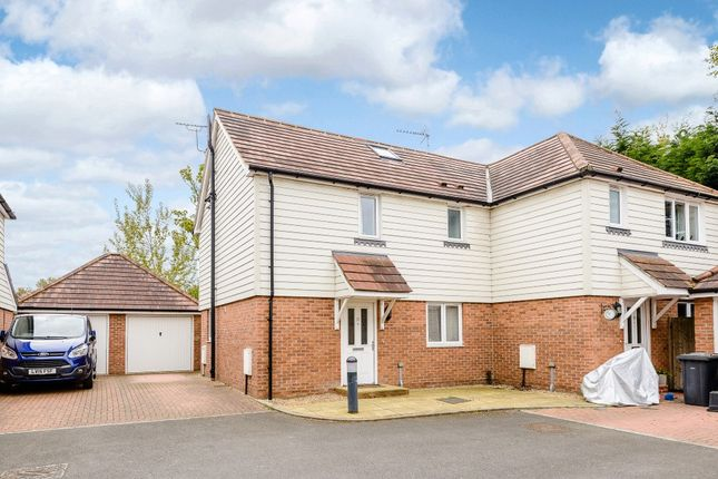Thumbnail Semi-detached house for sale in Pinewood Drive, New Haw, Addlestone