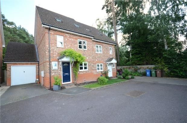 Thumbnail Semi-detached house for sale in Brakes Rise, College Town, Sandhurst