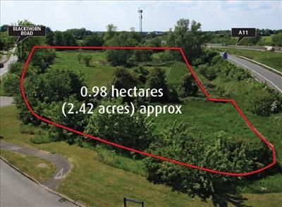 Thumbnail Land for sale in Bridge Farm, Blackthorn Road, Attleborough, Norfolk