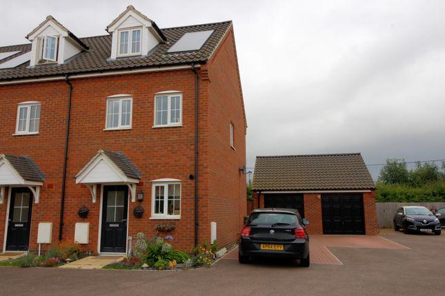 Thumbnail End terrace house for sale in Carpenter Close, Wymondham
