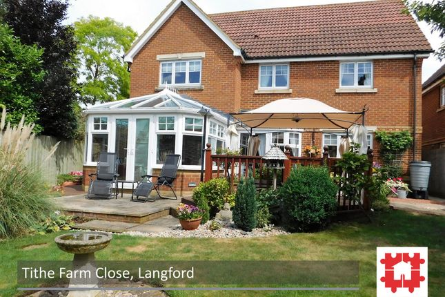 Thumbnail Detached house for sale in Tithe Farm Close, Langford, Beds
