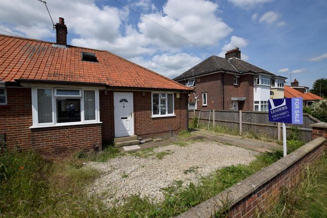 Thumbnail Semi-detached bungalow for sale in Jubilee Road, Sprowston, Norwich